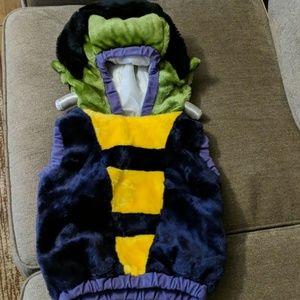 Plush toddler Halloween vest costume